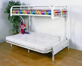 Bunk Bed With Futon Save Big On Futon Metal Bunk Bed White