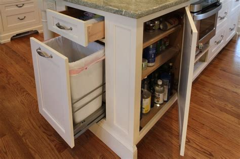 kitchen island trash kitchen island hidden garbage can transitional kitchen