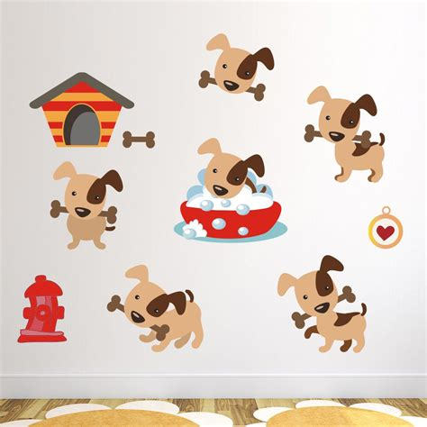 friendly puppy wall stickers puppy wall decals