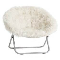 fluffy chairs for sale ivory furlicious faux fur hang a chair pbteen