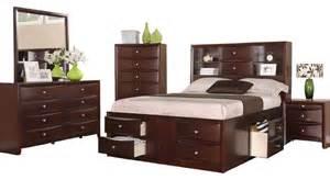 espresso captains storage bed set size 5 pc