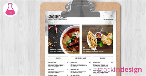 food menu template adobe indesign templates for restaurants