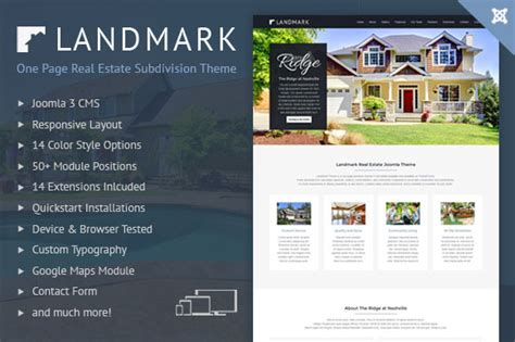 joomla real estate landing page joomla themes on