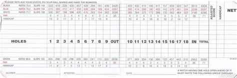 Organizr the olympic club lake actual scorecard course database