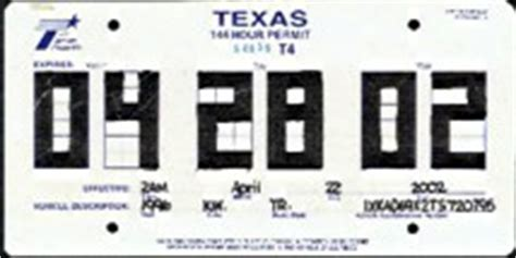 printable dealer tags plate 30 day temporary tags license plate dealer license