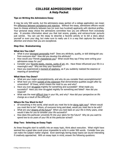 College Admissions Essays That Worked by Exles Of College Essays That Worked College Essay Exles Exolgbabogadosco Writing