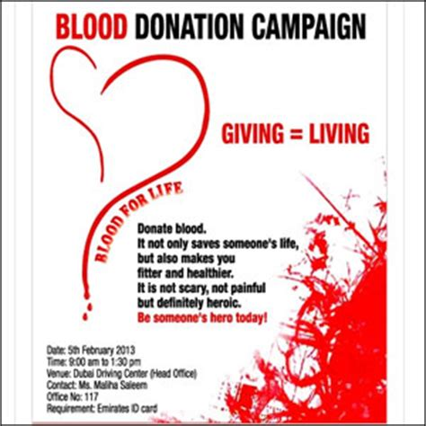 Blood Donation Letter Invitation Blood Donation C