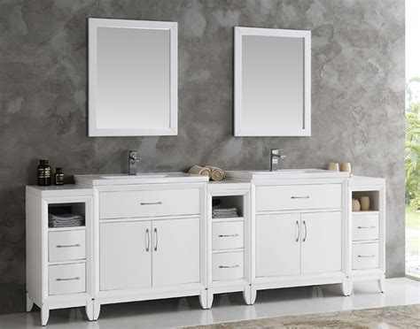 96 double vanity top fresca cambridge collection 96 quot white double traditional