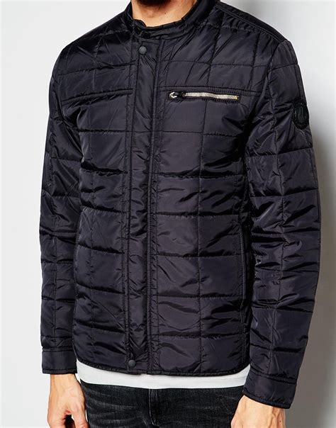 Lightweight Quilted Jackets by Replay Overshirt Jacket Quilted Lightweight In Black For Lyst