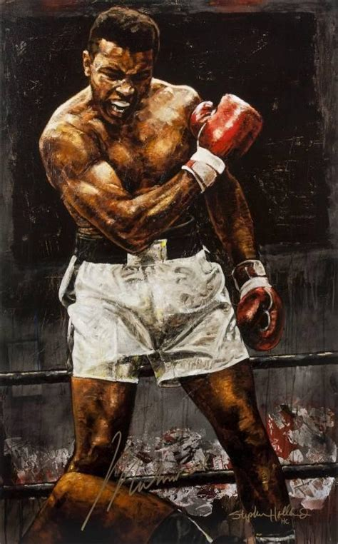 muhammad ali painting 59 00 muhammad ali signed artwork by stephen holland current