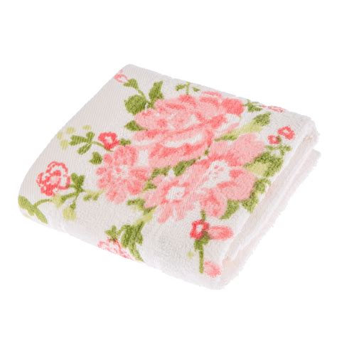 bath towels with roses floral printed 100 cotton bath towel bath sheet white ebay