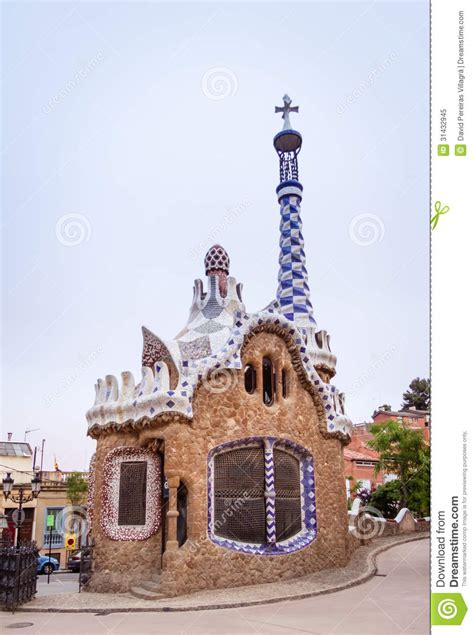 pavillon 7x7 entrance pavilion of the park guell in barcelona spain