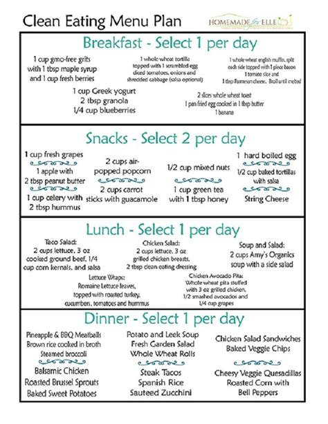 printable meal plan to lose weight simple weekly menu to lose weight domainsinter