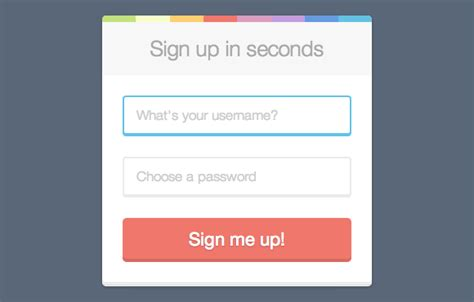 Sign Up Form Html Css Designershare Sign Up Form Template Html Css Free
