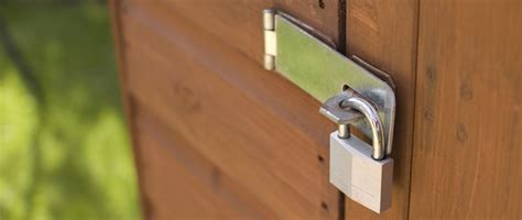 Shed Lock by Warning Follows Spate Of Rural Thefts