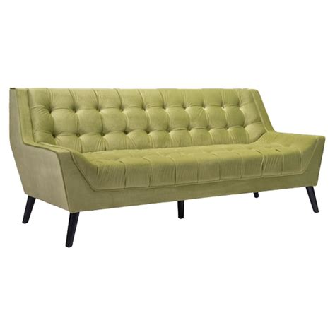 green velvet tufted sofa nantucket sofa tufted green velvet dcg stores