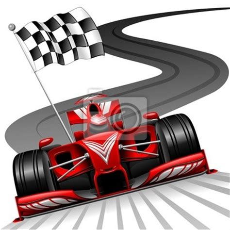 Race Track Wall Mural wall mural formula 1 red car on race track formula 1