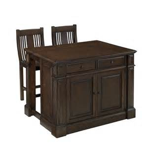 Kitchen Islands At Home Depot by Home Styles Prairie Home Kitchen Island And Two Stools