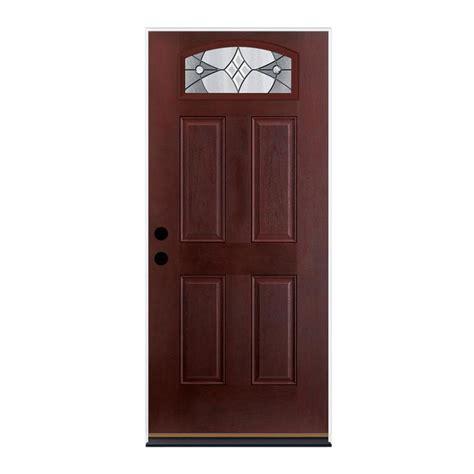 Right Door by Shop Therma Tru Benchmark Doors Delano 4 Panel Insulating