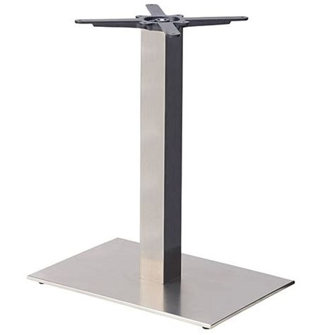 steel dining table base danilo rectangular stainless steel table base dining height