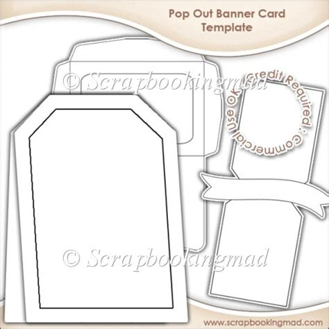 pop out card templates pop out banner card envelope template cu ok 163 3 50