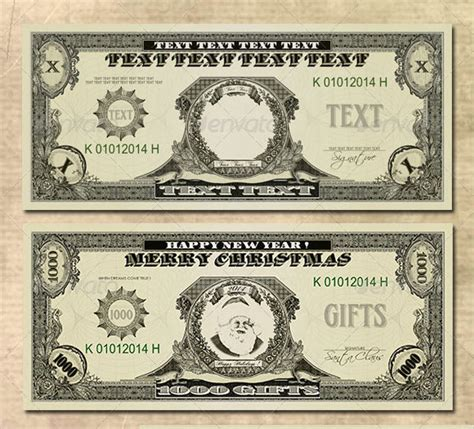 15 money psd template images dollar bill template