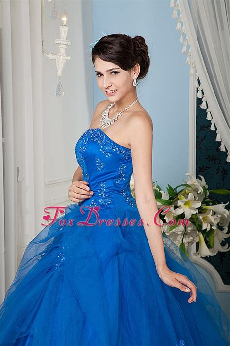 quinceanera themes for june a line strapless tulle beading quinceanera dress royal blue