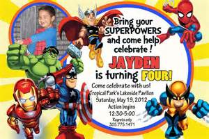 how to create superhero birthday invitations all