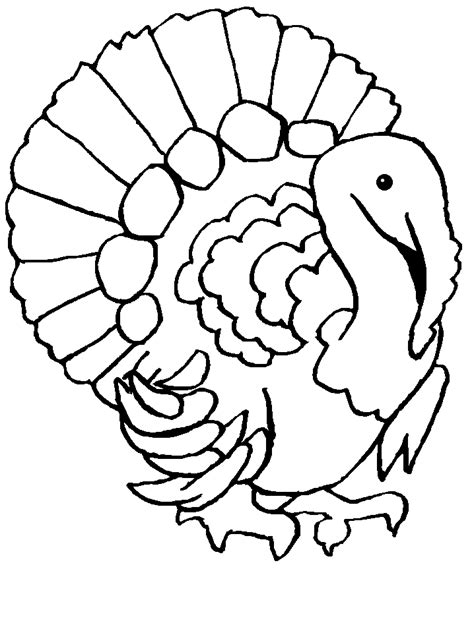 Turkey Coloring Pages Coloringpages1001 Com Turkeys Coloring Pages