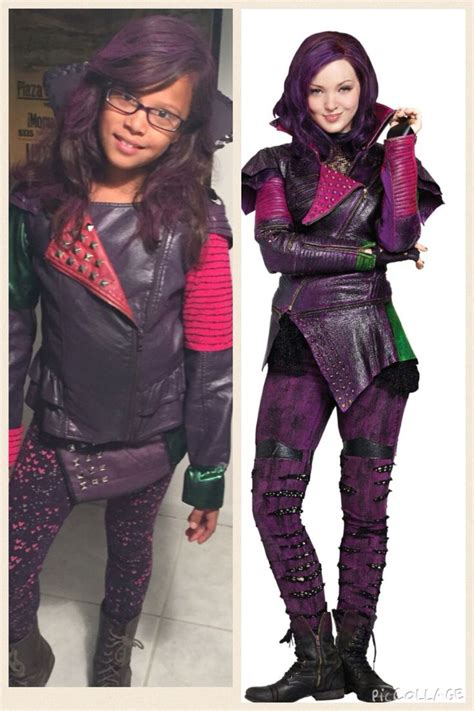 diy mal costume descendants disney mal leather jacket
