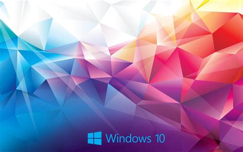 windows  wallpaper abstract  colorful polygon hd