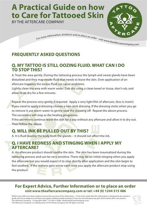 tattoo care questions tattoo aftercare care guide