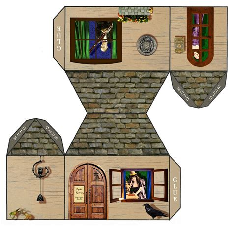 Craft Paper House - tarot papercraft house open weekends ring bell