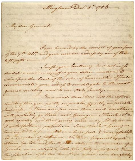 Letter Artifact Shays Rebellion Manuscript Benjamin Lincoln To George