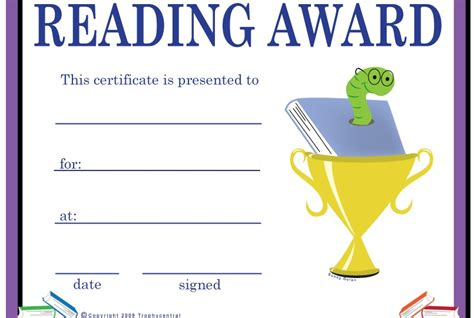 reading certificate template reading certificate templates for www pixshark
