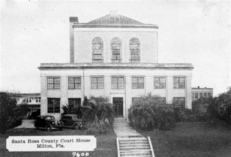 Santa Rosa County Florida Court Records Florida Memory Santa Rosa County Courthouse Milton Florida