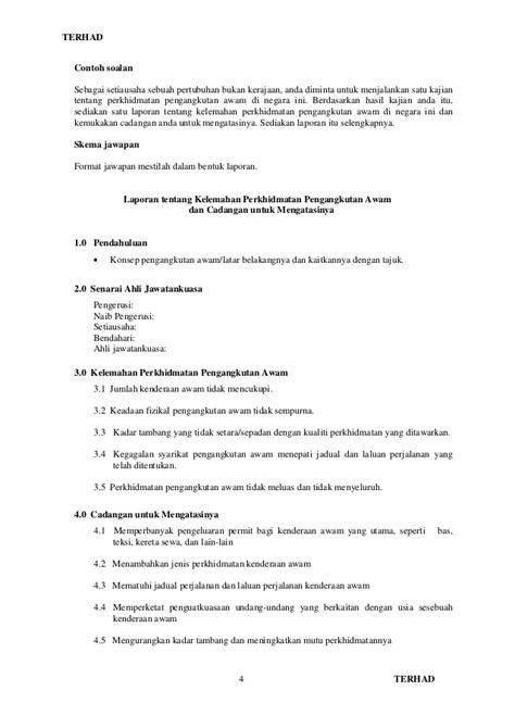 format contoh esei pbs bm