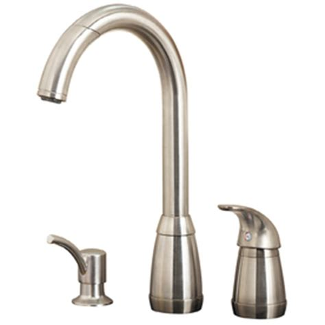 Shop Pfister Contempra Stainless Steel 1 Handle Pull Down