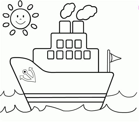 dibujo barco para colorear e imprimir dibujos de cruceros para colorear e imprimir educaci 243 n