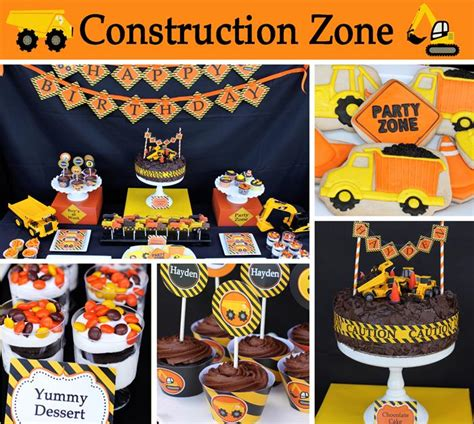construction theme decorations construction themed 3rd birthday with so many great