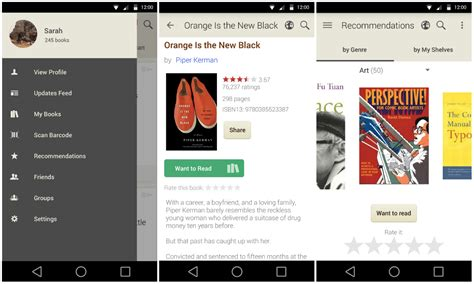 app design navigation goodreads android app updated with a reved design and
