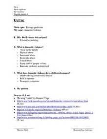 Domestic Violence Essay Outline by Engelsk Disposition Domestic Violence Skolehj 230 Lpen Dk