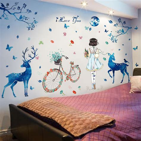 self adhesive wall decoration sticker wall stickers self adhesive dormitory warm wall