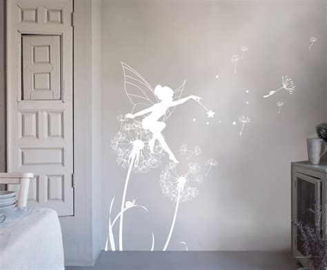 bambizi white wall stickers fairy design flower