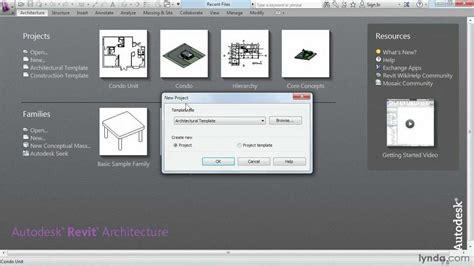 Revit Construction Template Exploring The Revit Architecture Project Templates Lynda Com Tutorial Youtube
