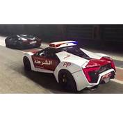 Lykan Hypersport Police Car Watches As Aventador Spits Flames
