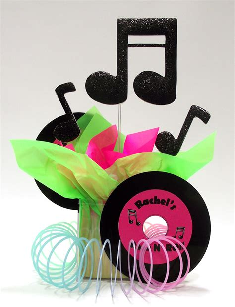 theme table decorations rock roll theme centerpiece ideas awesome events