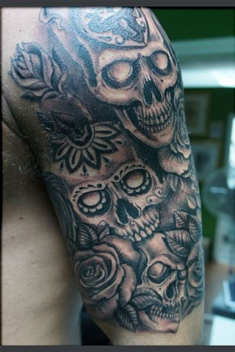 day of the dead tattoo sleeve day of the dead sleeve5 day of the dead sleeve and skulls