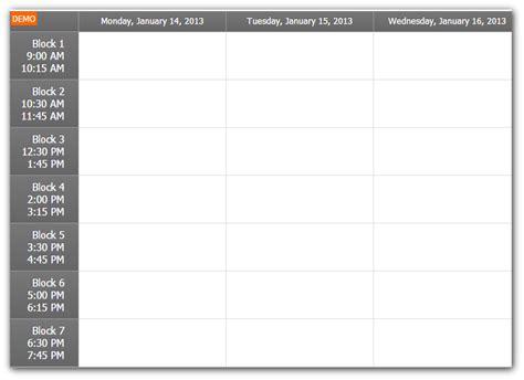 javascript format date week timetable tutorial asp net c vb net daypilot code