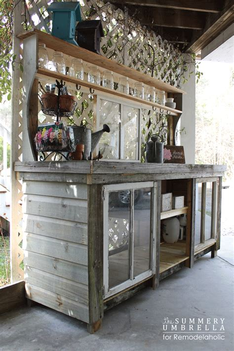 how to make a potting bench remodelaholic how to build a potting bench from